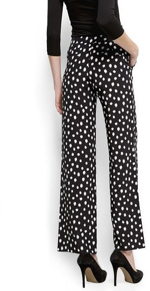 MANGO Polka-dots wide trousers