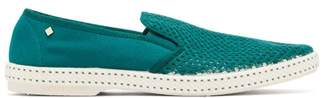 Rivieras Classic 20 Canvas Loafers - Mens - Green