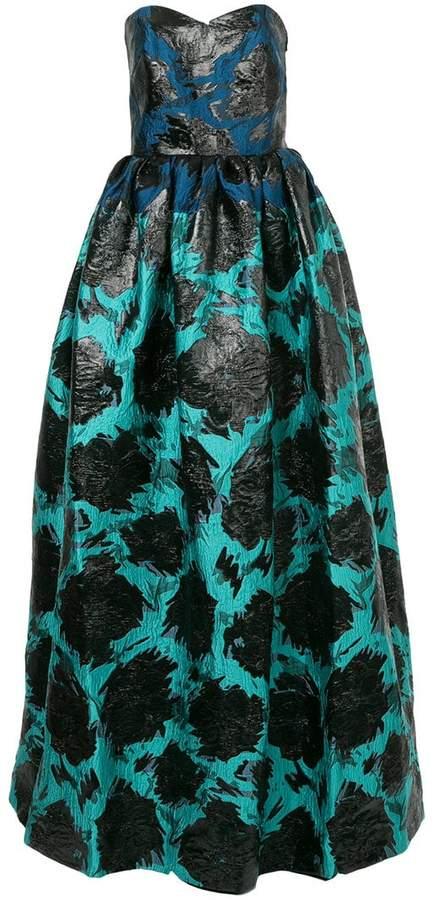 Paule Ka printed bustier gown