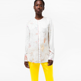 Paul Smith Women's Collarless Shirt With 'Floral Ladies' Print