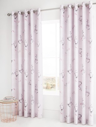 Catherine Lansfield Enchanted Unicorn Eyelet Curtains
