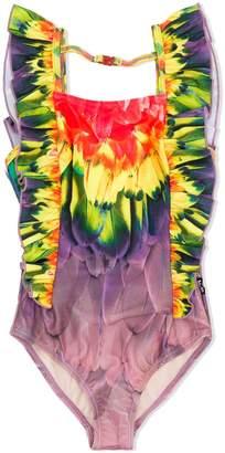 Molo Kids Amazon parrot print swimsuit