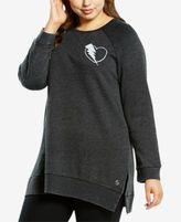 Soffe Plus Size Split-Hem Sweatshirt