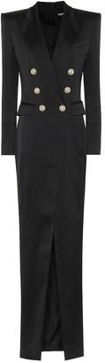 Balmain CrApe midi dress