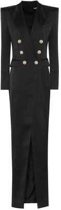 Balmain Crepe midi dress