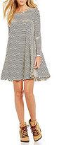 GB Striped Knit Swing Dress