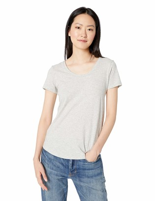 Daily Ritual Amazon Brand Women's Lived-in Cotton Slub Short-Sleeve Scoop Neck T-Shirt