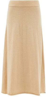 Extreme Cashmere - No.138 Rolled-hem Cashmere-blend Midi Skirt - Beige