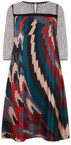 Marina Rinaldi Printed Silk Dress