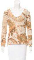 Roberto Cavalli Paisley Print Cashmere Sweater
