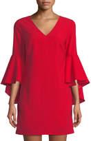 Romeo & Juliet Couture Cascading Bell-Sleeve Shift Dress
