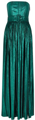 retrofete Jaden green metallic-weave maxi dress