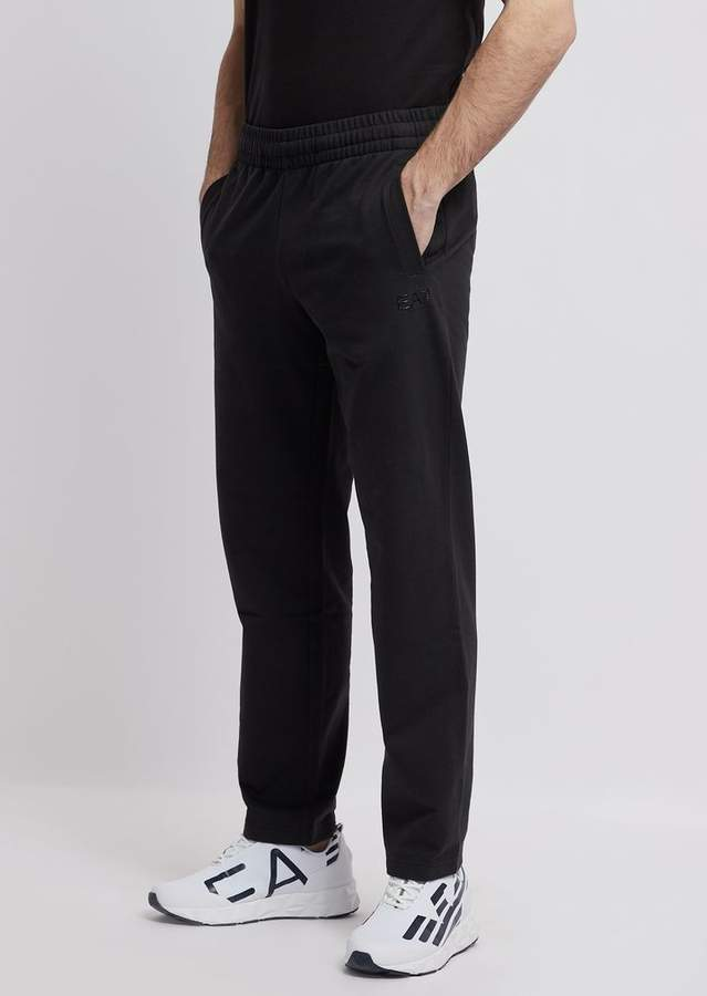 2085a669f1 Ea7 Train Core Jogging Pants In Baby French Terry Cotton