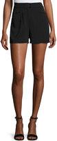 A.L.C. Joan High-Rise Stretch Crepe Shorts, Black