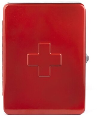 Kikkerland Large First Aid Cabinet Red