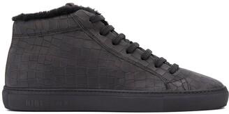 Hide&Jack Shearling-Lined High-Top Sneakers