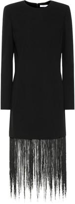 Givenchy Fringed wool minidress