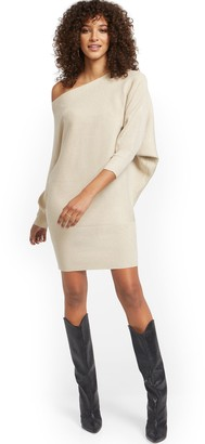 New York & Co. Metallic Dolman Sweater Dress