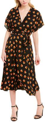 Diane von Furstenberg Kelsey Silk-Blend Midi Dress