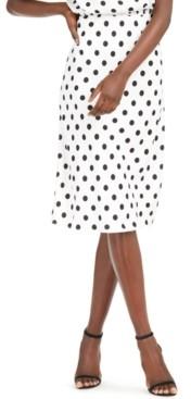 INC International Concepts Inc Petite Polka-Dot Skirt, Created for Macy's