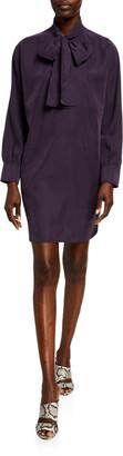 Club Monaco Tie-Neck Shirt Dress