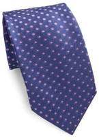 Corneliani Floral Patterned Silk Tie