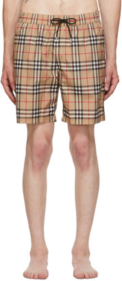 Burberry Beige Guildes Swim Shorts