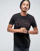 Asos Star Wars Longline T-Shirt With Glitch Logo Print