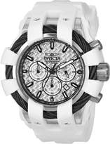 Invicta Men's Bolt Polyurethane Band Steel Case Swiss Quartz Silver-Tone Dial Analog Watch 23857