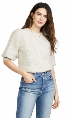 Joie Women's Knit Sweater with a Puffed Sleeve