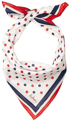 Americana Echo New York Dot Bandana (Red) Scarves