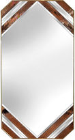 One Kings Lane Vintage Blush Pink & Brass Floor Mirror