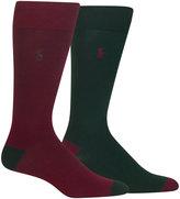 Polo Ralph Lauren Men's 2-Pk. Soft Touch Ribbed Heel Toe Sock