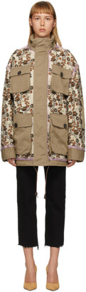 DSQUARED2 Tan Flower Print Jacket