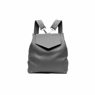 Holly & Tanager The Professional Leather Backpack Purse In Grey