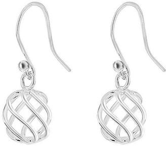 Sterling Silver Ball Twist Drop Earrings