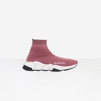 Balenciaga Speed Sneaker in pink laminated knit