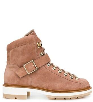 Santoni Suede Hiker-Style Boots