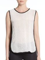 Romeo & Juliet Couture Wavy Striped Knit Top