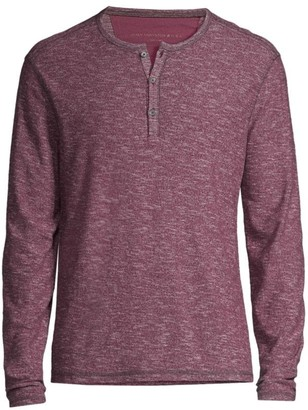 John Varvatos Bridgeport Slub Cotton Henley