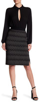 Yoana Baraschi French Metro Knit Pencil Skirt