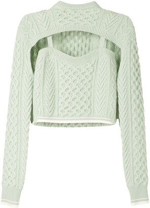 Rosie Assoulin Cut-Out Cropped Jumper