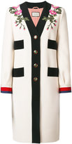 Gucci GG Web embroidered coat - women - Silk/Cotton/Acetate/Wool - 40