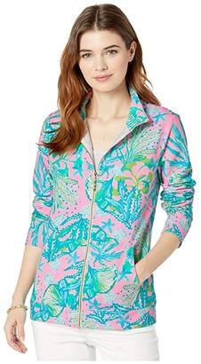 Lilly Pulitzer UPF 50+ Betsey Zip-Up (Mandevilla Baby Hip Nautic) Women's Clothing