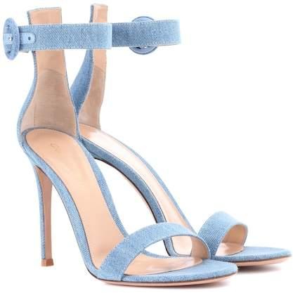 Gianvito Rossi Portofino 105 denim sandals