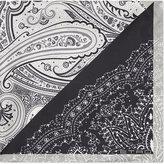 Etro Contrast Ornate Paisley Silk Pocket Square
