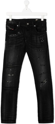 Diesel TEEN distressed slim-fit jeans
