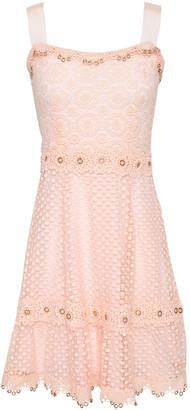 Maje Rosalina Eyelet-embellished Guipure Lace Mini Dress