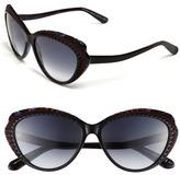 Alexander McQueen 56mm Cat Eye Sunglasses