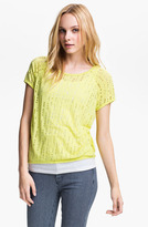 Vince Camuto Two by Perforated Double Layer Tee